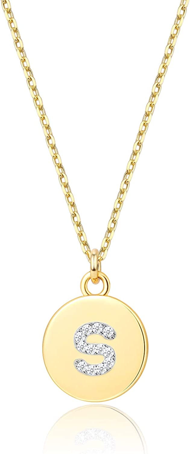 Gold Letter Necklace for Penda Ultra-Cheap Deals Small Girls New mail order Initial
