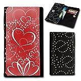 sw-mobile-shop Strass Book Style Flip Handy Tasche Hülle Schutz Hülle Foto Schale Motiv Etui für HTC One E8 - Flip SU5 Design5