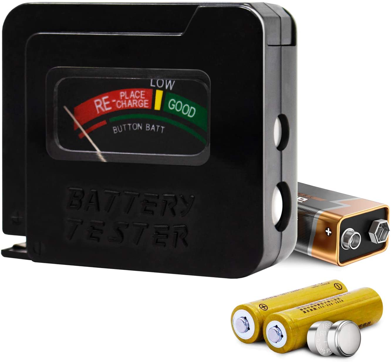 Battery Tester for AA AAA C D 9V 1.5V Button Cell Batteries Toolman QTH030