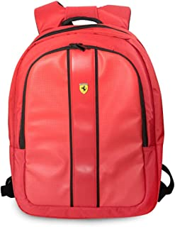 Ferrari Track back pack With USB Connector- Red