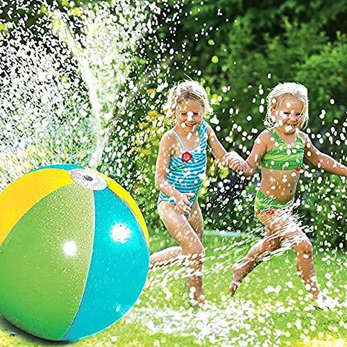 """Danning Beach Ball Sprinkler für Kinder Aufblasbarer Wassersprüh Ball 25"""" Durchmesser außerhalb des Spiels Spray Water Yard Hinterhof für Outdoor, Hinterhof, Rasen, Hof"""