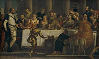 Oil Painting 'Veronese Paolo (Workshop) Bodas De Canaan Ca. 1562 ' Printing On High Quality Polyster Canvas , 24 X 40 Inch / 61 X 103 Cm ,the Best Kitchen Gallery Art And Home Decor And Gifts Is This Vivid Art Decorative Prints On Canvas