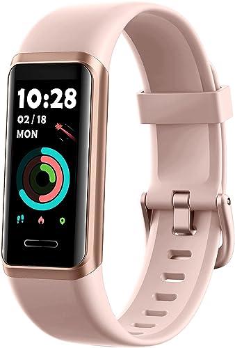 YAMAY Montre Connectée Femmes Homme Oxymetre Alexa intégré Bracelet Connecté Podometre Cardio Montre Sport Etanche IP...