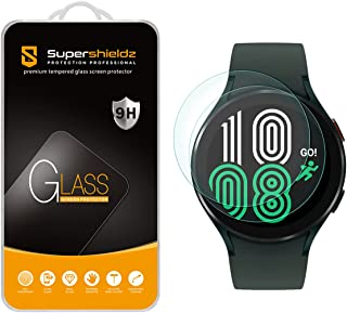 (2 Pack) Supershieldz Designed for Samsung Galaxy Watch 4 (44mm) Tempered Glass Screen Protector, Anti Scratch, Bubble Free
