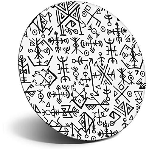 Destination Vinilo ltd impresionante imán para nevera, nevera, símbolos vikingos islandeses divertidos para oficina, gabinete y pizarra, pegatinas magnéticas, 2507