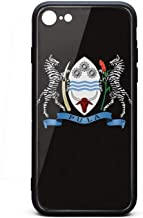 Vintage iPhone 7 Case Shock-Absorbing Botswana Coat of Arms Zebra Skin iPhone 8 Cases Cute IPhone7/8 Covers
