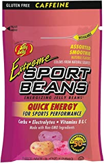 Jelly Belly Extreme Sport Beans, Caffeinated Jelly Beans, Assorted Smoothie Flavors, 24 Pack, 1-oz Each