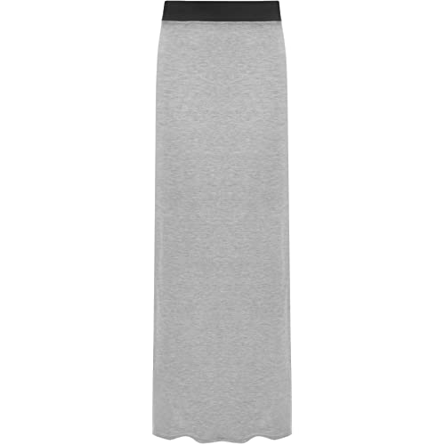 ac38b4aa0e9 WearAll Ladies Long Maxi Skirt Womens Elasticated Stretch Full Length Plus  Size 12-26