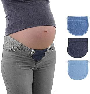 LYCOS3 - Cintura elástica Extensible para Embarazo, Cintura Ajustable, cinturón de Maternidad para Embarazo, Cintura Extensible, Cotton-Black, Tamaño Libre