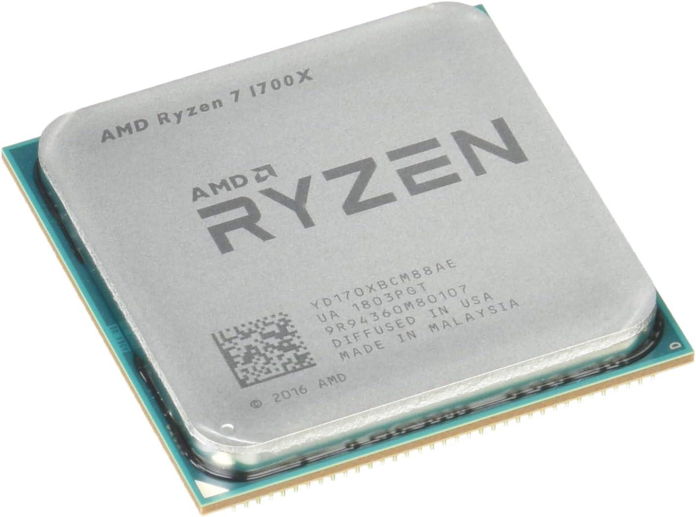 Amazon Com Amd Yd170xbcaewof Ryzen 7 1700x Processor Computers Accessories