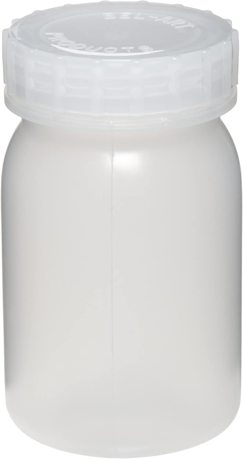 Bel-Art Wide-Mouth 1 ? L (1 pt) Polypropylene Mason Jars (Pack of 6) (F10913-0000)