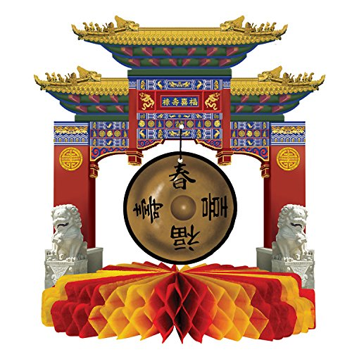 A Beistle Creation Asian Gong Centrepiece,50302