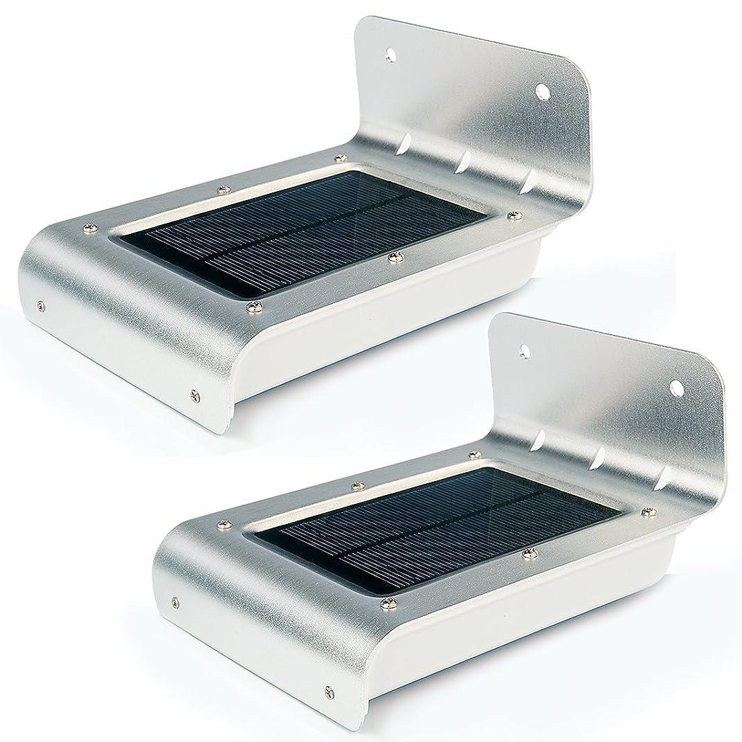 歌手居間損なうUniquefire 2x 第二世代 ソーラー充電式LEDライト 16個LED電球 センサー搭載 アウトドアライト