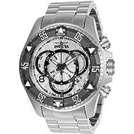 Men's Excursion Titanium Quartz Watch with Stainless-Steel Strap, Silver, 26 (Model: 24262)