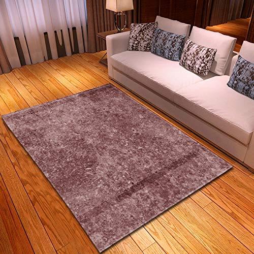 BEDSERG Alfombras Modernas Grandes Granate Alfombra Interior Y Exterior fácil Mantenimiento Ideal para salón, Cocina...