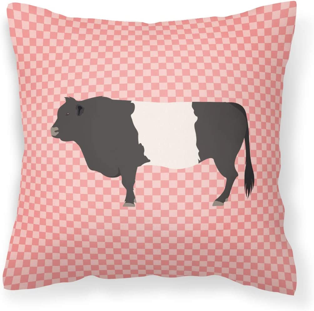 Caroline's Treasures BB7831PW1818 Belted New Shipping Free Shipping Check Galloway Pink Cow cheap