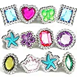 THE TWIDDLERS 100Pcs Little Girls Rings - Kids Fancy Crystal Fashion Accessory - Jewelry Sets for Kids - Ideal indoor toys for kids for hours of play and entertainment