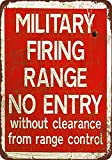 Custom Kraze Military Firing Range Vintage Reproduction Metal tin Sign 8 x 12