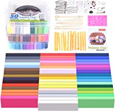 Polymer Clay, Shuttle Art 50 Colors 1.3 oz/Block Soft Oven Bake Modeling Clay Kit, 19 Tools and 10 Kinds of Accessories, Non-Stick, Non-Toxic, Ideal DIY Gift for Kids [ Total 4.1LB ]