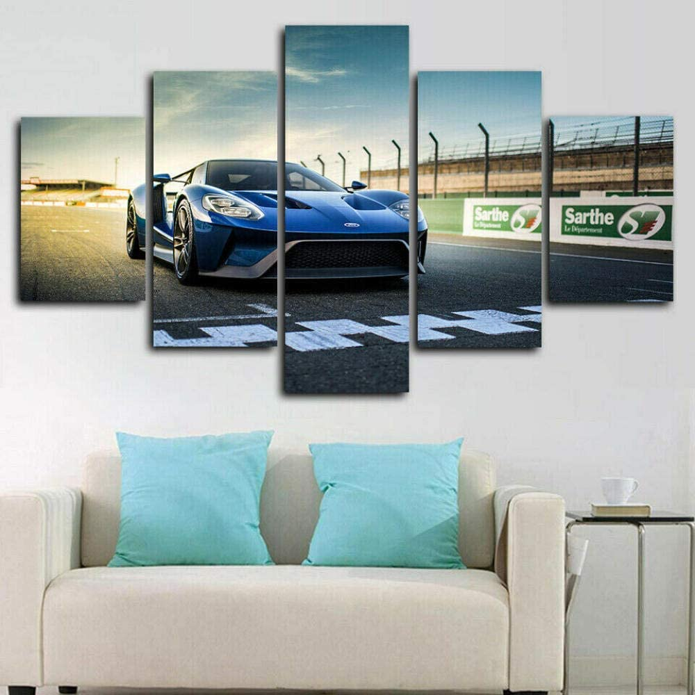 5 Piece Wall Art Canvas Panel Car Racing Super Free Shipping New Many popular brands
