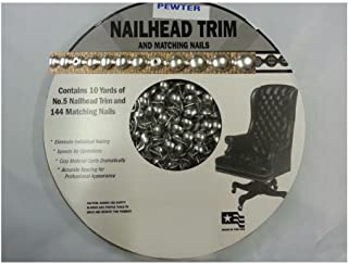 PEWTER 30 Feet Upholstery Tackstrips Roll Nail Strip Nailhead Trim +144 Nails