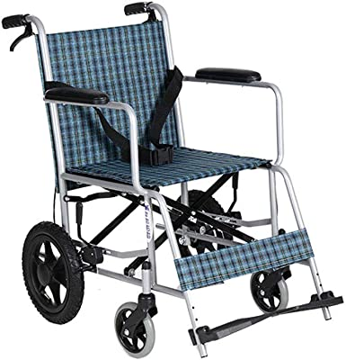 YX Xuan Yuan Wheelchair,Manual Wheelchair Portable Folding Lightweight Elderly Wheelchair Disabled Scooter Care Car