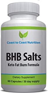 Keto Weightloss Supplement - Converts Fat to Energy with Ketosis   Speed Metabolism, Manage Cravings   Betahydroxybutyrate...