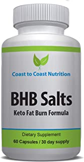 BHB Salts Capsules | Keto Weight Loss Supplement for Fast Fat Burn – Boost Energy & Speed Metabolism | BETAHYDROXYBUTYRATE Salts Ketogenic Diet Pills - 800 mg, 60 Capsules / 30 Day Supply