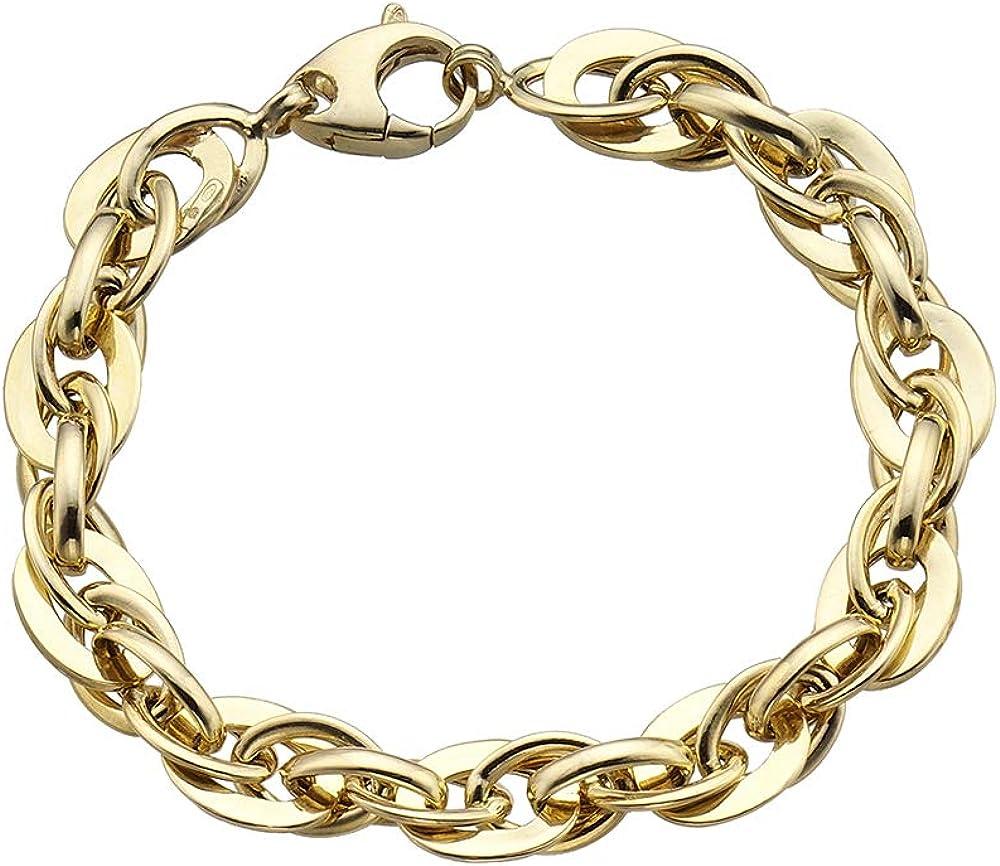 Duran exquse bracciale collezione links, in argento 925 placcato oro giallo Links 1