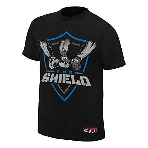 The Shield Hands In United WWE Authentic Mens Black T-shirt-M
