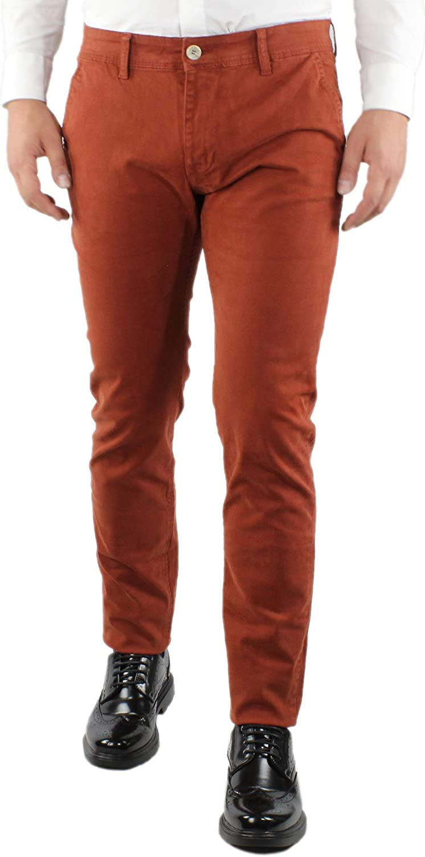 Pantaloni Uomo Eleganti Invernali Slim Fit Nero Blu Azzurro Beige Aragosta Pantalone Chino in Cotone Tasche America Stretti Casual Classico