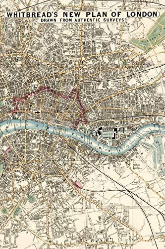 Stadtplan von London Notizbuch: Individuelles Notizheft mit historischer Karte von London, Notebook, Schreibheft etwa A5 (15,3 x 22,9 cm oder 6 x 9 ... Geschenkidee für Reisende und Traveler