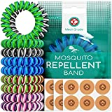 Triple Coil Mosquito Repellent Bracelets [10pc] & Insect Repellent Patches [120pc] Worlds First