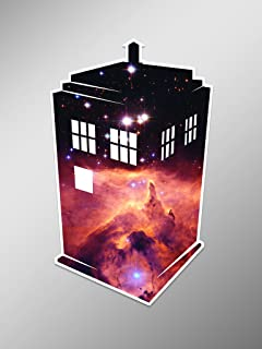Outer Space Tardis Doctor Who Vinyl Decal Sticker | Cars Trucks Vans Walls Laptops Cups | Printed | 5.25 inches | KCD937