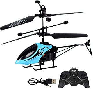 Halffle 2 Channel Mini RC Helicopter Radio Remote Control Model Toy with LED Light Helicopter