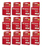 36x Trojan ENZ Condoms Premium Latex Non Lubricated Protection 12x3ct
