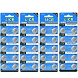 LiCB 40 Pack LR44 AG13 357 303 SR44 Batteries 1.5V Button Coin Cell Battery