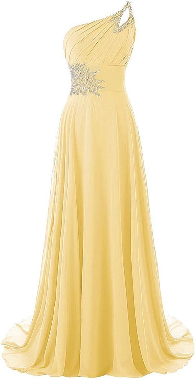 Chengzhong Sun Women Aline OneShoulder Sequins Laceup Evening Prom Dresses