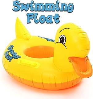 FUNTOK Pato amarillo anillos inflables de la natación Diseño amarillo lindo del pato Flotador Asiento del barco Círculo del coche de la playa Círculo del asiento del asiento para los niños