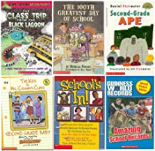 Scholastic Level 4 Reader 6 Pack- The Class Trip From The Black Lagoon / The 100th Greatest Day of School / The Kids in Ms. Colman's Class #4-Second Grade Baby / Second-Grade Ape / School's In! / Guinness World Records-Amazing School Records (Grades 2 & 3)