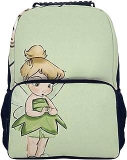 Bonita mochila de Campanilla y Hada para la escuela, bolsa de viaje, bolsa de negocios, para hombres, mujeres, adolescentes, escuela, universidad, 40,6 cm