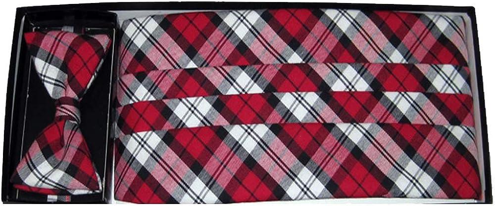 Lumberjack Plaid Tie & Cummerbund Set