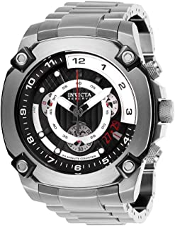 Men's Reserve Quartz Watch with Stainless Steel Strap, Silver, 26 (Model: 27049)