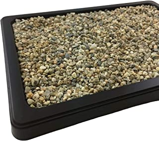 Drip and Humidity Tray with Washed River Rocks - Helps Protect Furniture + Planting Trays Provides Moisture When Water Evaporates - Great for Cactus, Succulents, Bonsai & House Plants