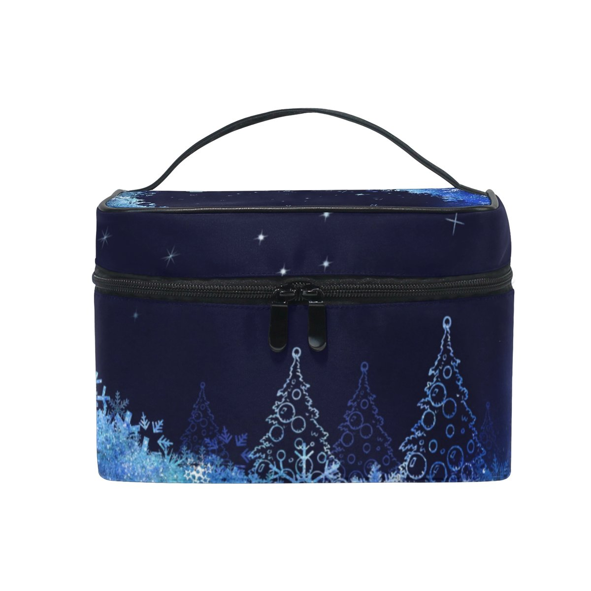 Cosmetic Bag Christmas Tree Snowflakes Case Great interest Tr Women Makeup Surprise price Moon