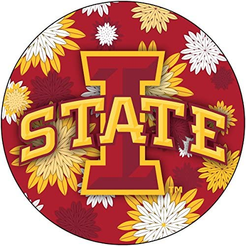 R and Imports Iowa State Cyclones Year-end annual account Inch Round Floral Magnet 4 overseas