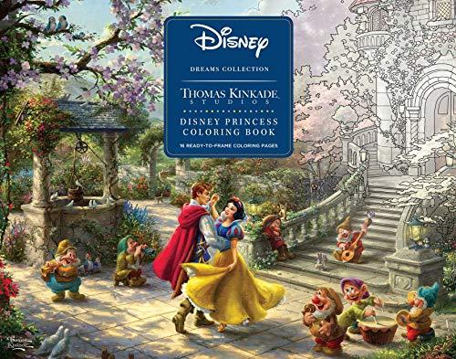 Disney Dreams Collection Thomas Kinkade Studios Disney Princess Coloring Poster