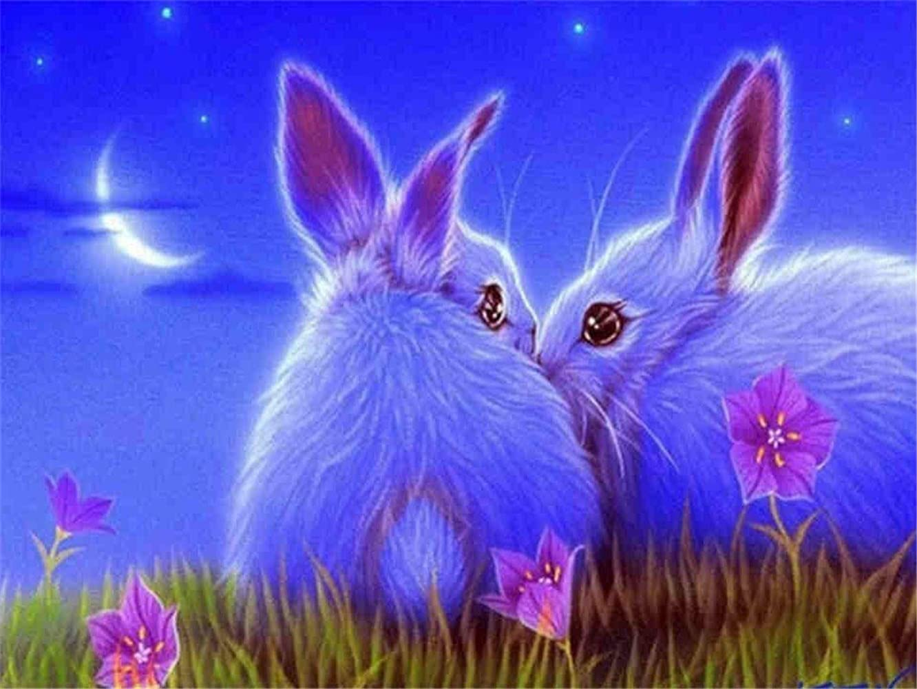 Today's only Sale WXYWYTOQ DIY 5D Diamond Painting by Cute Number Cross Kits Bunny