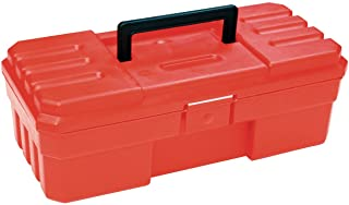 Akro-Mils 12-Inch ProBox Plastic Toolbox for Tools, Hobby or Craft Storage Toolbox, Model 09912, (12-Inch x 5.5-Inch x 4-Inch), Red