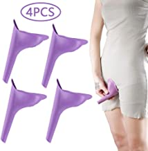 HAKACC Portable Female Women Urinal Camping Travel Toilet Device 4PCS,Purple